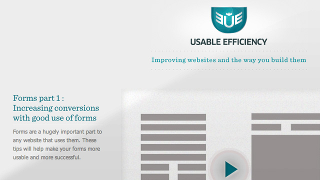Usable Efficiency website screenshot
