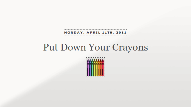 Preview image of 'Put Down Your Crayons'