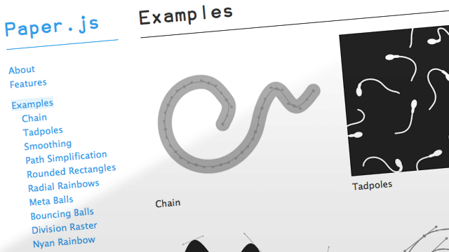 Preview image of 'Paper JS'