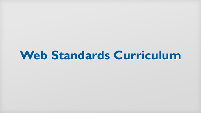 Preview image of 'Web Standards Curriculum'