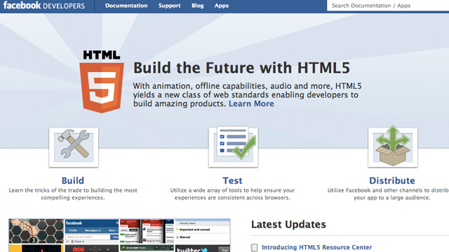Preview image of 'Facebook HTML5'