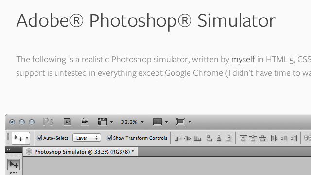 Preview image of 'Adobe Photoshop Simulator'